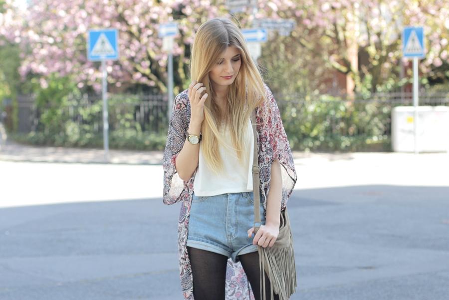 Kimono Jeansshorts Outfit 6