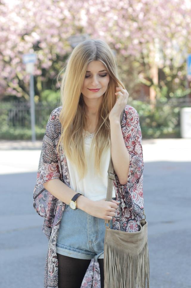 Kimono Jeansshorts Outfit 8