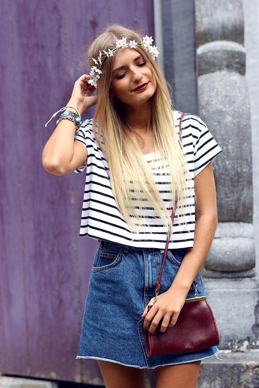 Modeblog-German-Fashion-Blog-Outfit-Jeansrock-Streifen-Shirt-3