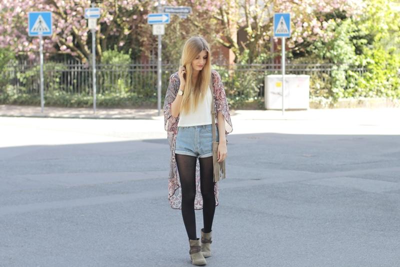 Kimono Jeansshorts Outfit 5